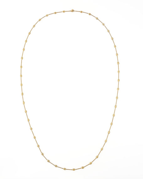 """Marco Bicego Siviglia 18k Gold Single-Strand Necklace, 39 1/4""""L"""