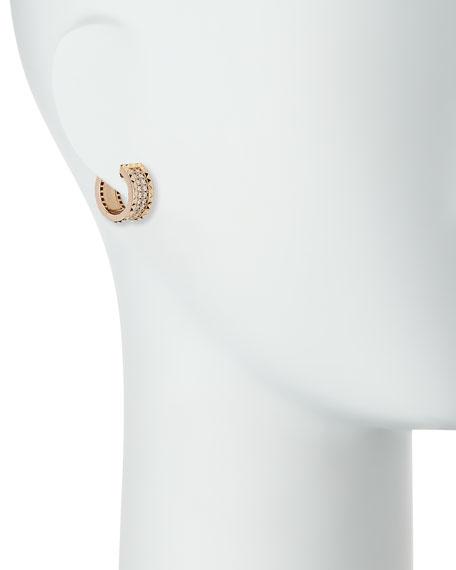 ROBERTO COIN ROCK & DIAMONDS 18K Rose Gold Huggie Earrings