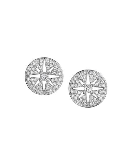 Pastiche Diamond Star Button Earrings