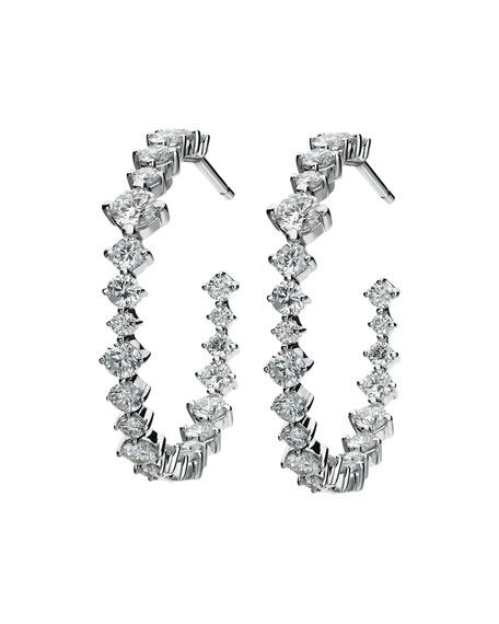 Hoops Mixed-Size Diamond Earrings
