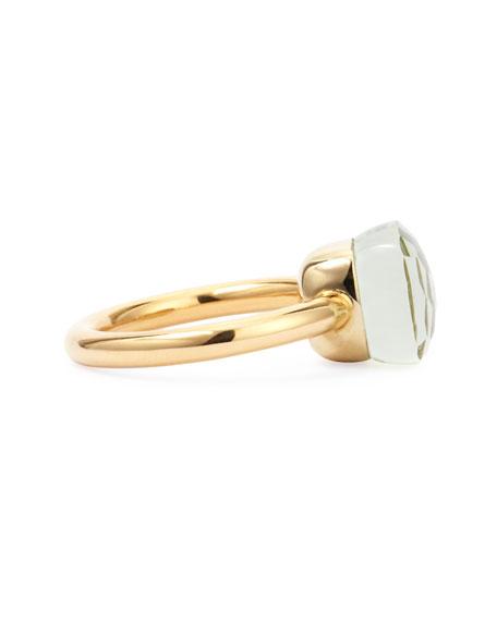 Pomellato Nudo Rose Gold & 9mm Prasiolite Ring, Size 54