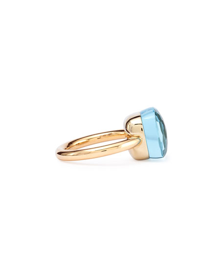 Nudo Rose Gold & Blue Topaz Grande Ring, Size 54