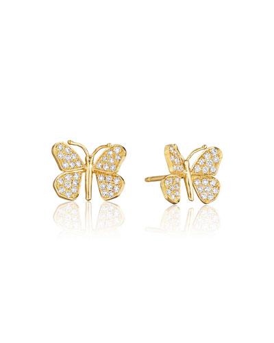 Wonderland Pavé Diamond Butterfly Stud Earrings
