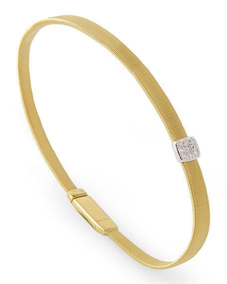 Masai 18K Yellow Gold Coil Bracelet with Diamond Station