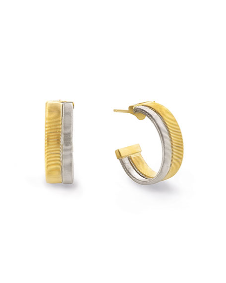 Masai 18K White & Yellow Gold Coil Hoop Earrings