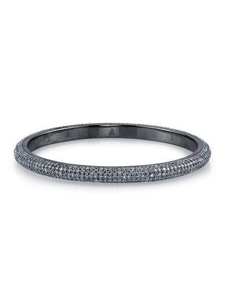 Medium Pave Bangle Bracelet