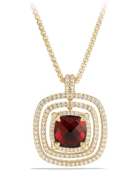 26mm Châtelaine 18K Faceted Garnet Bezel Enhancer with Diamonds