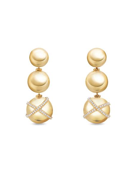 Solari Triple-Drop Earrings with Diamonds