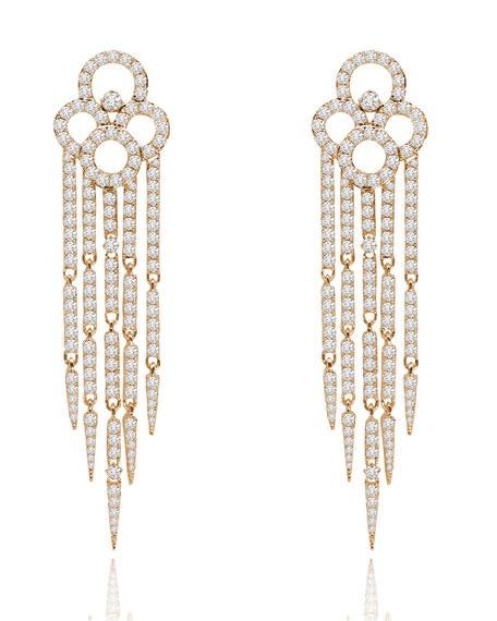 18K Rose Gold & Diamond Tassel Earrings