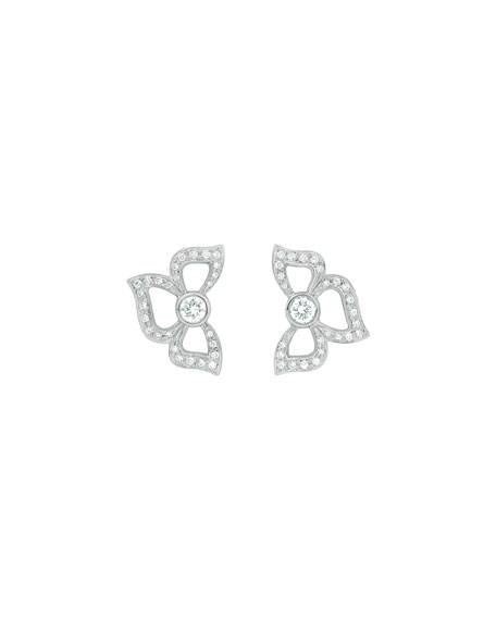 Florette Pavé Diamond Stud Earrings