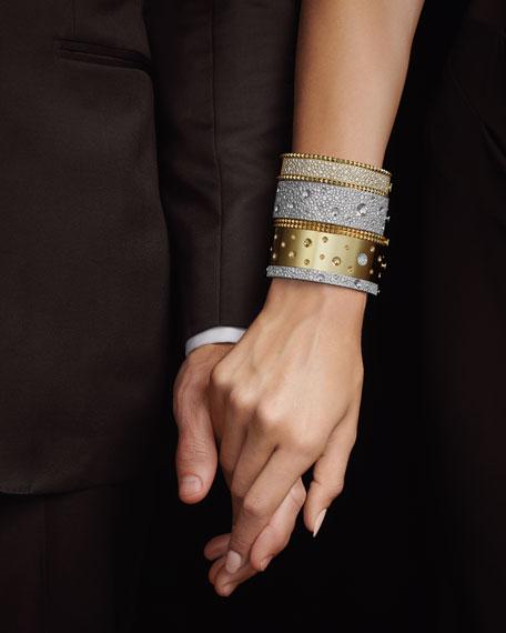 Roberto Coin ROBERTO COIN ROCK & DIAMONDS Medium 18K Yellow Gold Bangle Bracelet