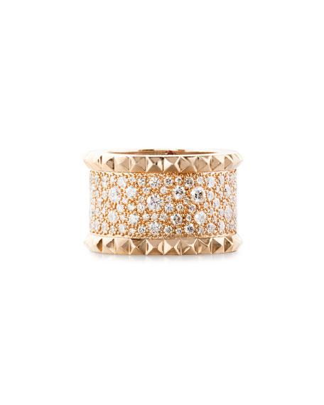 Rock & Diamond 18K Rose Gold Ring