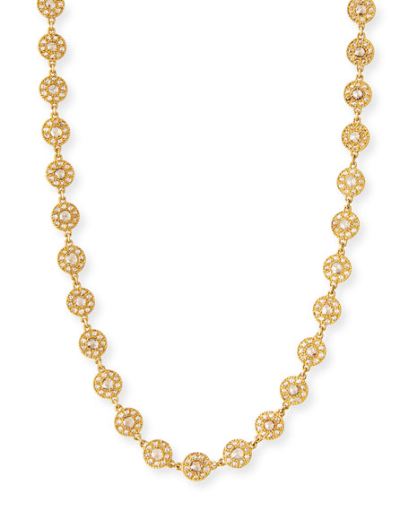 High End Opera Necklace with Diamonds