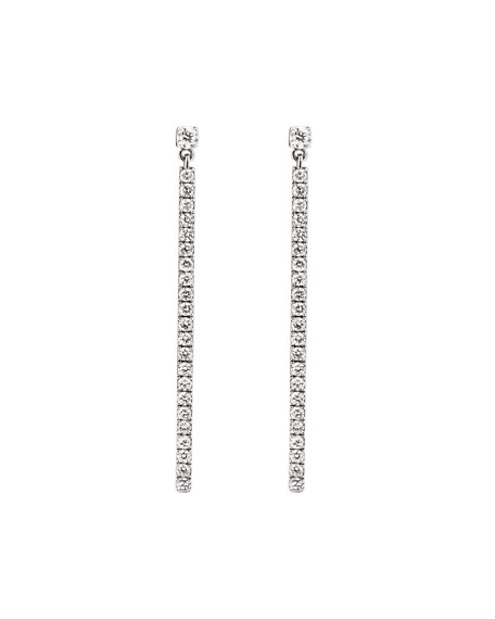 Gatsby Barrette Linear Diamond Pendant Earrings
