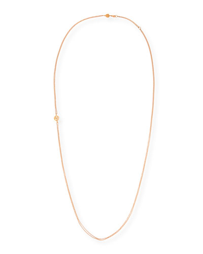Double-Chain Necklace in 18K Rose Gold, 31