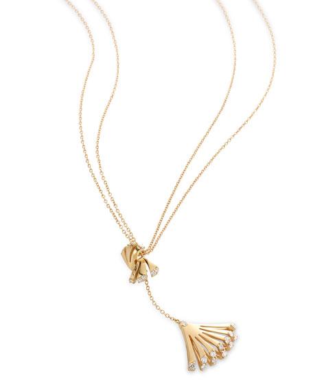 Miseno Ventaglio 18k Gold Diamond Fan Pendant Necklace