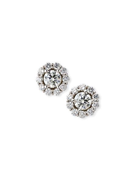 Blossom Diamond Stud Earrings in 18K White Gold, 1.5tdcw