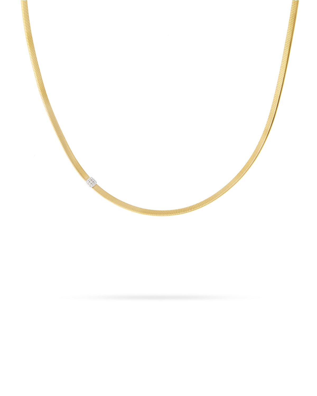 14b92a2b88e21 Masai 18K Single-Strand Necklace with Diamond Station