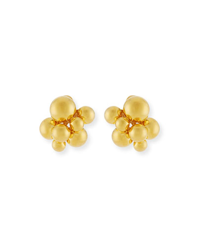 Small Atomo Clip-On Earrings in 18K Gold