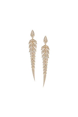Stephen Webster Magnipheasant Diamond Pave Earrings in 18k Rose Gold