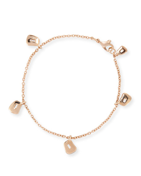 Puzzle Trapezoid Charm Bracelet in 18K Rose Gold
