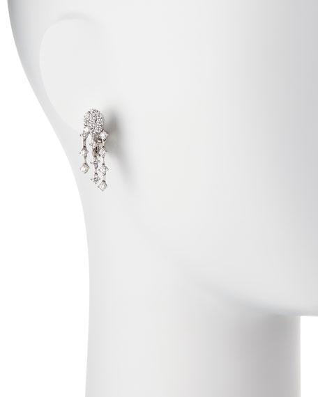 Three-Strand Diamond Chandelier Earrings in 18K White Gold