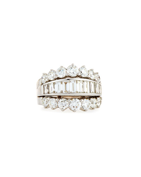 Baguette & Round Diamond Ring, 4.37 tdcw