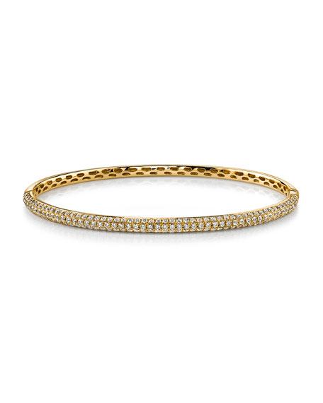 Anita Ko 18k Gold 3-Row Diamond Bangle Bracelet