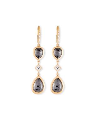 c3e2c1c5b64724 Rahaminov Diamonds 18k Kifani Pear-Dangle Earrings