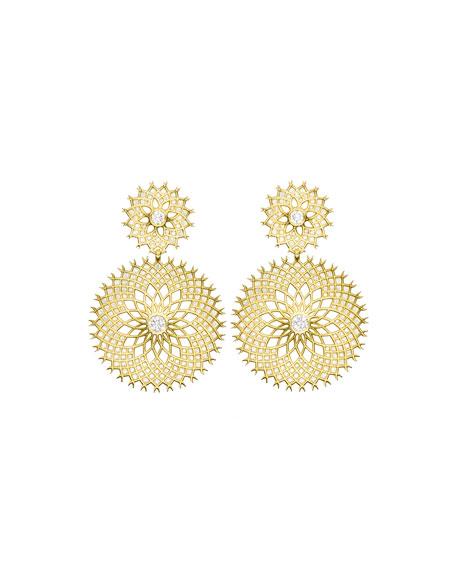 Paul Morelli Spiral Mesh Diamond Drop Earrings