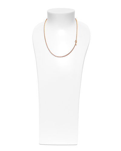 18k Rose Gold Chain Necklace