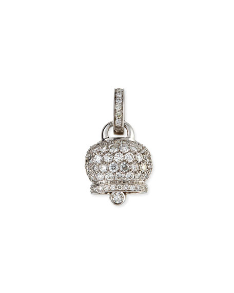 18K White Gold & Diamond Campanella Charm