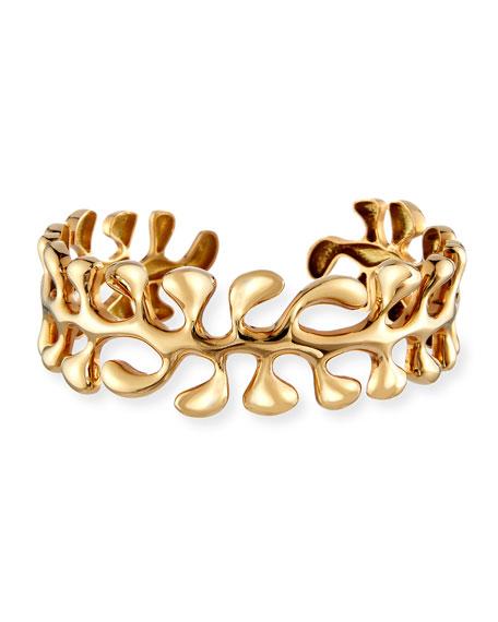 Sea Leaf Bangle Bracelet in 18K Gold