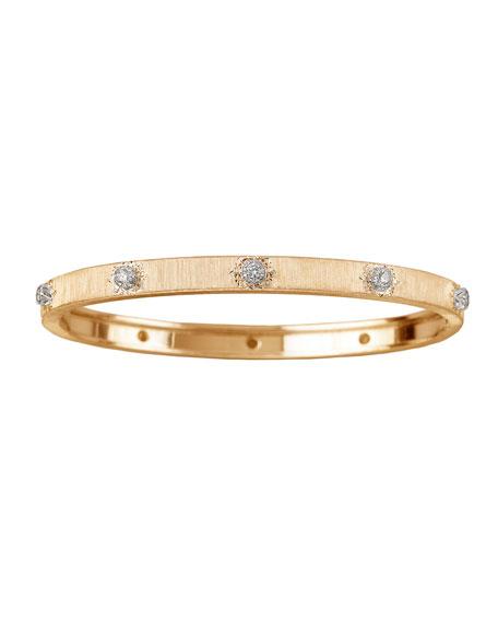 Buccellati Macri 18k Yellow Gold Diamond Bangle Bracelet