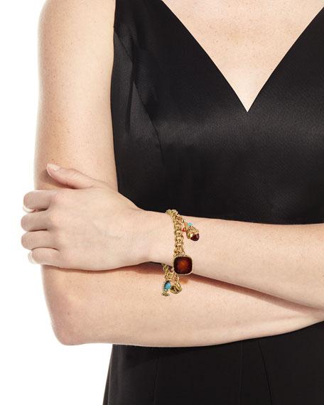 Hays Worthington Heart Lock Charm Bracelet