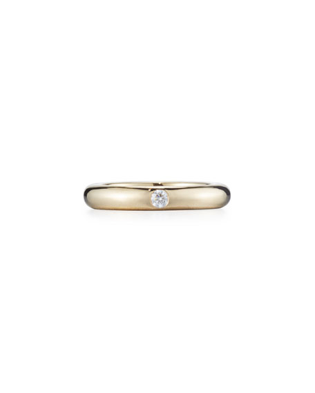 adolfo courrier pop 18k yellow gold ring with one white