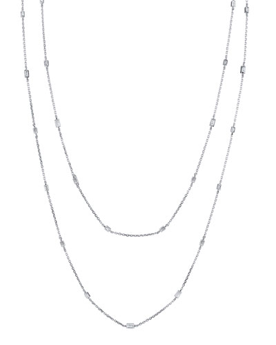 18k White Gold By-the-Yard Diamond Necklace  48L