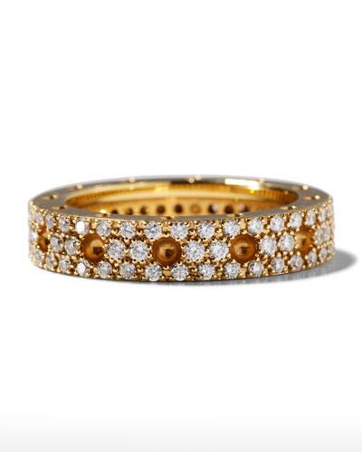 Pois Moi 18k Diamond Pave Round Ring