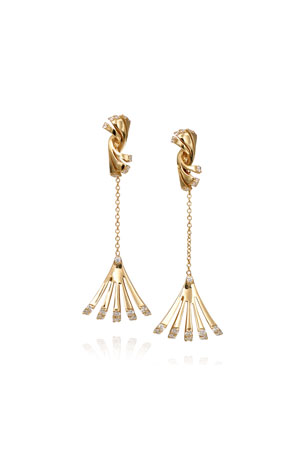 Miseno Ventaglio 18k Diamond Fan-Drop Earrings