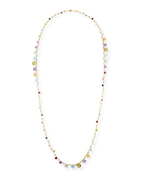 "Marco Bicego Paradise Long Mixed-Stone Necklace, 48"""