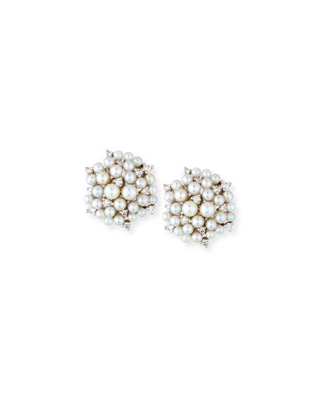 Paul Morelli 18k Pearl & Diamond Orbit Double Drop Earrings SvLA3nU