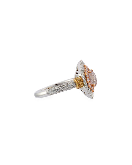 Alexander Laut Fancy-Cut Pink Diamond Ring in 18K Gold, Size 6