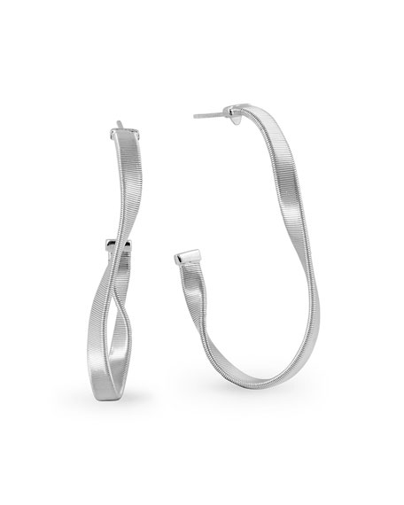 Marco Bicego Marrakech Supreme Small Hoop Earrings in 18K White Gold