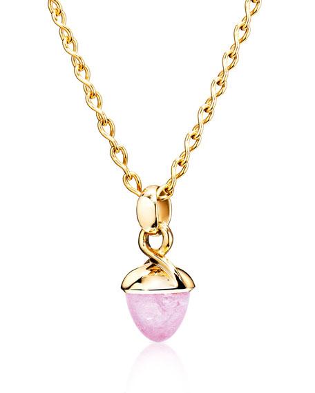 Tamara Comolli MIKADO BOUQUET 18k Gold Pink Tourmaline Pendant