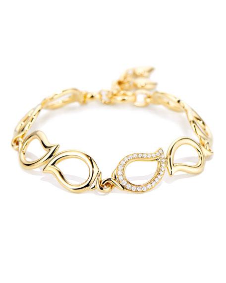 Tamara Comolli 18k Diamond Leaf-Link Bracelet