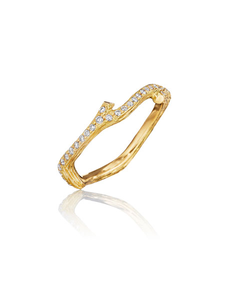 Mimi So Wonderland Pave Diamond Eternity Band Ring, Size 7