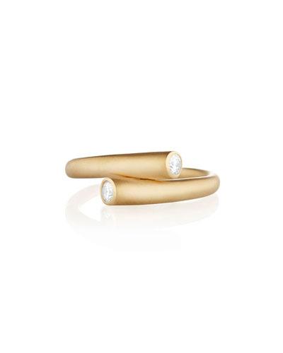 Whirl 18k Gold 2-Diamond Ring