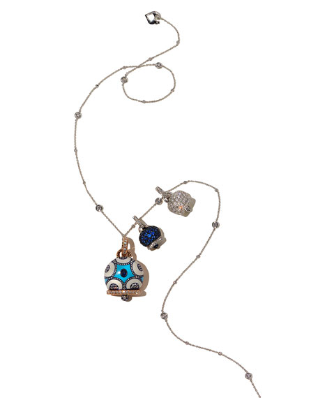 Diamond & Blue Sapphire Campanella Charm