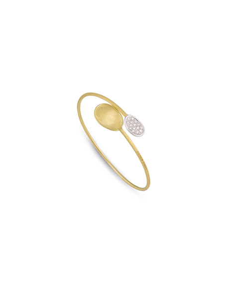 Lunaria Bypass Cuff Bracelet with Diamonds