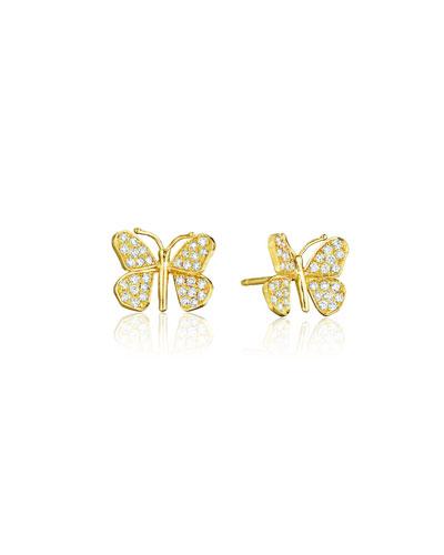 Wonderland 18k Diamond Butterfly Stud Earrings